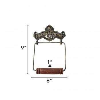spec-<PRE>Toilet Paper Holder Antique Brass St Pancras Tissue Holder </PRE>