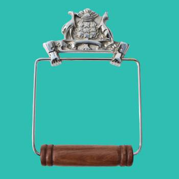<PRE>Antique Toilet Paper Holder Chrome Victorian Tissue Holder </PRE>
