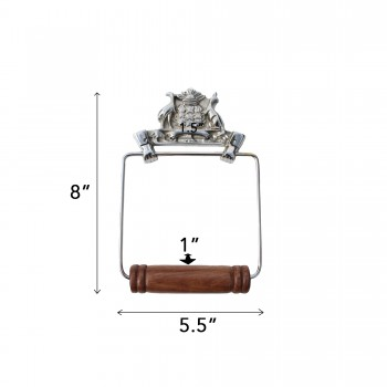 spec-<PRE>Antique Toilet Paper Holder Chrome Victorian Tissue Holder </PRE>