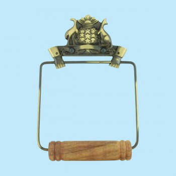 <PRE>Toilet Paper Holder Wall Mount Antique Brass Victorian Hands Tissue Holder </PRE>zoom2