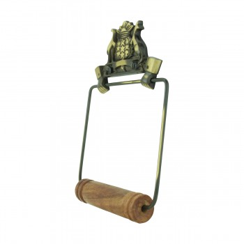 <PRE>Toilet Paper Holder Wall Mount Antique Brass Victorian Hands Tissue Holder </PRE>zoom4