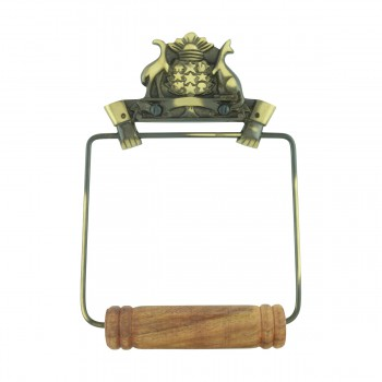 Toilet Paper Holder Wall Mount Antique Brass Victorian Hands Tissue Holder