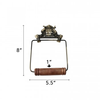 spec-<PRE>Toilet Paper Holder Wall Mount Antique Brass Victorian Hands Tissue Holder </PRE>