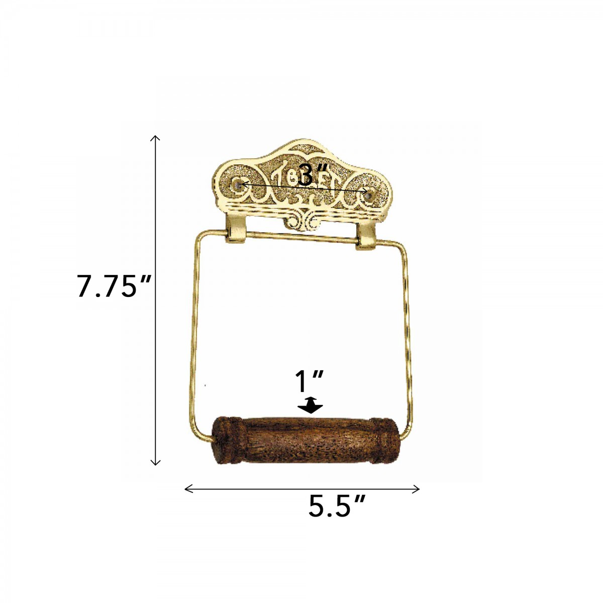 Antique Toilet Paper Holder Brass Toilet Tissue Holder