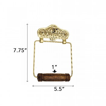 spec-<PRE>Antique Toilet Paper Holder Wall Mount Brass Toilet Tissue Holder for Bathroom</PRE>