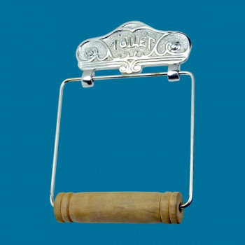 <PRE>Antique Toilet Paper Holder Chrome Toilet Tissue Holder </PRE>zoom2