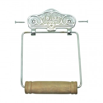 <PRE>Antique Toilet Paper Holder Chrome Toilet Tissue Holder </PRE>zoom3