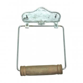 <PRE>Antique Toilet Paper Holder Chrome Toilet Tissue Holder </PRE>zoom5