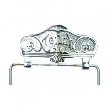<PRE>Antique Toilet Paper Holder Chrome Toilet Tissue Holder </PRE>zoom7