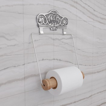 <PRE>Antique Toilet Paper Holder Chrome Toilet Tissue Holder </PRE>zoom1