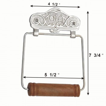 spec-<PRE>Antique Toilet Paper Holder Chrome Toilet Tissue Holder </PRE>