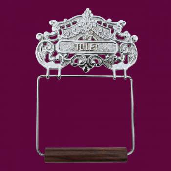 spec-<PRE>Antique Toilet Paper Holder Chrome Princess Crown Tissue </PRE>