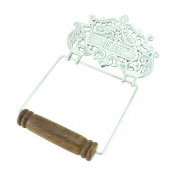 <PRE>Antique Toilet Paper Holder Chrome Princess Crown Tissue </PRE>zoom3
