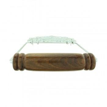 <PRE>Antique Toilet Paper Holder Chrome Princess Crown Tissue </PRE>zoom5