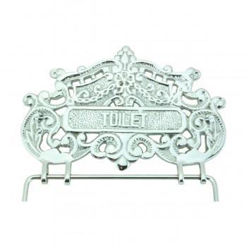 <PRE>Antique Toilet Paper Holder Chrome Princess Crown Tissue </PRE>zoom8