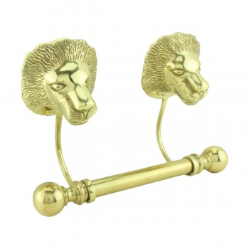 <PRE>Antique Toilet Paper Holder Wall Mount Brass P/L Lions Tissue Holder</PRE>zoom4