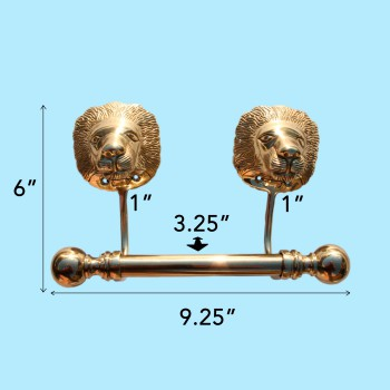 spec-<PRE>Antique Toilet Paper Holder Wall Mount Brass P/L Lions Tissue Holder</PRE>