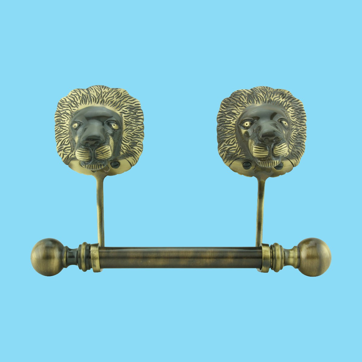 Antique Toilet Paper Holder Wall Mount Anti Brass Lions Tissue Holder
