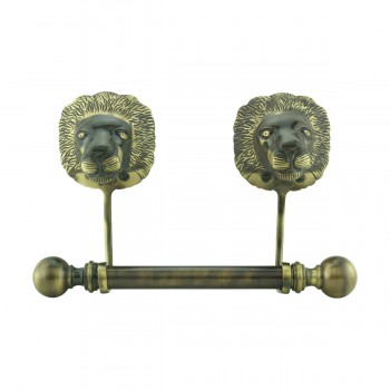 Antique Toilet Paper Holder Wall Mount Anti Brass Lions Tissue Holder17536grid