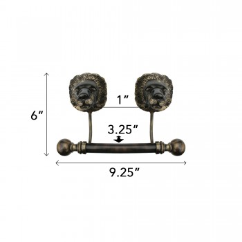 spec-<PRE>Antique Toilet Paper Holder Wall Mount Anti Brass Lions Tissue Holder</PRE>