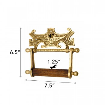 spec-<PRE>Traditional Brass Falcon Tissue Holder for Bathroom </PRE>