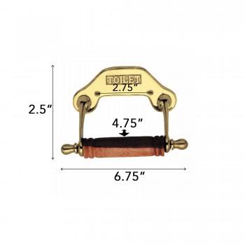 spec-<PRE>Antique Toilet Paper Holder Brass Knight Tissue Holder </PRE>