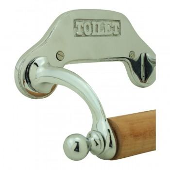 <PRE>Antique Toilet Paper Holder Chrome Knight Tissue Holder </PRE>zoom9