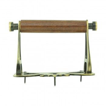 <PRE>Toilet Paper Holder Antique Brass Coronation Tissue Holder </PRE>zoom5