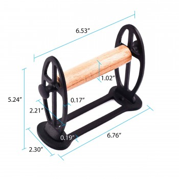 spec-<PRE>Vintage Toilet Tissue Holder Black Aluminum </PRE>