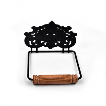 <PRE>Princess Crown Toilet Tissue Holder Black Aluminum </PRE>zoom3