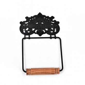<PRE>Princess Crown Toilet Tissue Holder Black Aluminum </PRE>zoom5