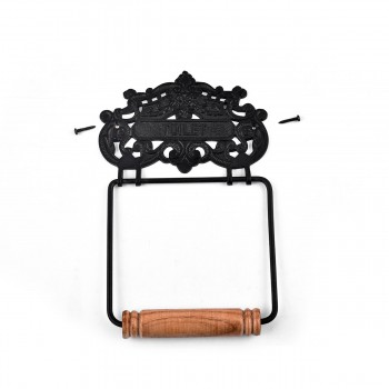<PRE>Princess Crown Toilet Tissue Holder Black Aluminum </PRE>zoom6