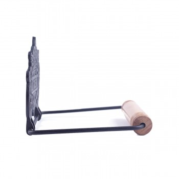 <PRE>Princess Crown Toilet Tissue Holder Black Aluminum </PRE>zoom9