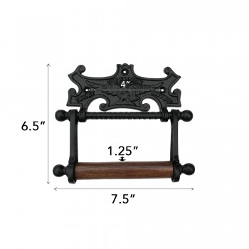 spec-<PRE>Toilet Paper Holder Black Aluminum Falcon Tissue Holder </PRE>