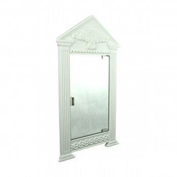<PRE>White Urethane Wall Mount Bathroom Corner Medicine Cabinet Mirror</PRE>zoom3