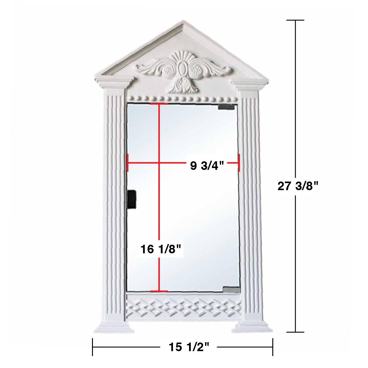 Corner mount medicine cabinet