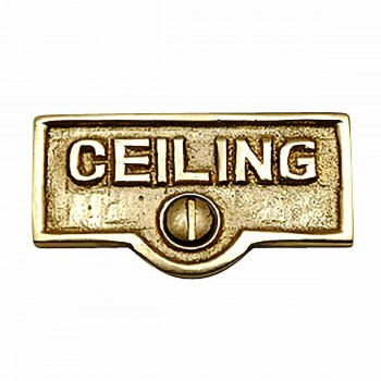 CEILING Switch Tag Polished Lacquered Brass