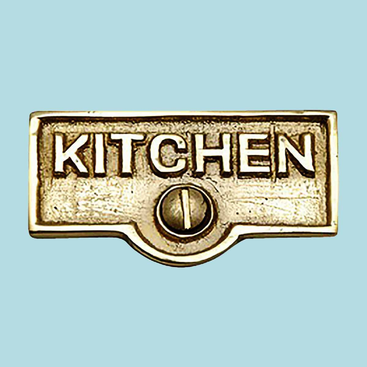 Switch Plate Tags KITCHEN Name Signs Labels Solid Brass