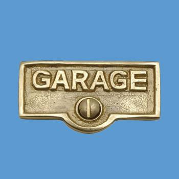 <PRE>Switch Plate Tags GARAGE Name Signs Labels Lacquered  Brass </PRE>zoom2
