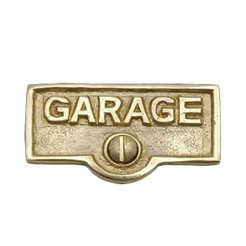 Switch Plate Tags GARAGE Name Signs Labels Lacquered  Brass