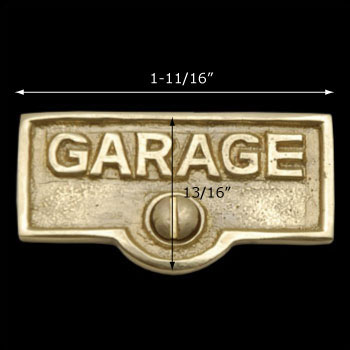 spec-<PRE>Switch Plate Tags GARAGE Name Signs Labels Lacquered  Brass </PRE>