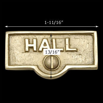 spec-<PRE>Switch Plate Tags HALL Name Signs Labels Lacquered  Brass </PRE>