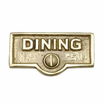 Switch Plate Tags DINING Name Signs Labels Lacquered Brass 17584grid
