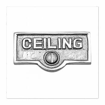 Switch Plate Tags CEILING Name Signs Labels Chrome Brass