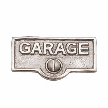 Switch Plate Tags GARAGE Name Signs Labels Chrome Brass