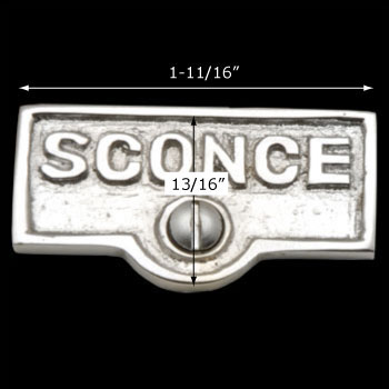 spec-<PRE>Switch Plate Tags SCONCE Name Signs Labels Chrome Brass </PRE>