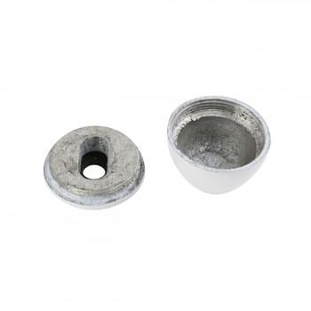 <PRE>Rustproof Aluminum Toilet Bolt Covers - White - Set of 2 </PRE>zoom3