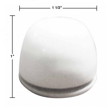 spec-<PRE>Rustproof Aluminum Toilet Bolt Covers - White - Set of 2 </PRE>
