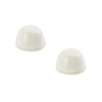 Toilet Bolt Cover Cap Pair Bone Rustroof Aluminum