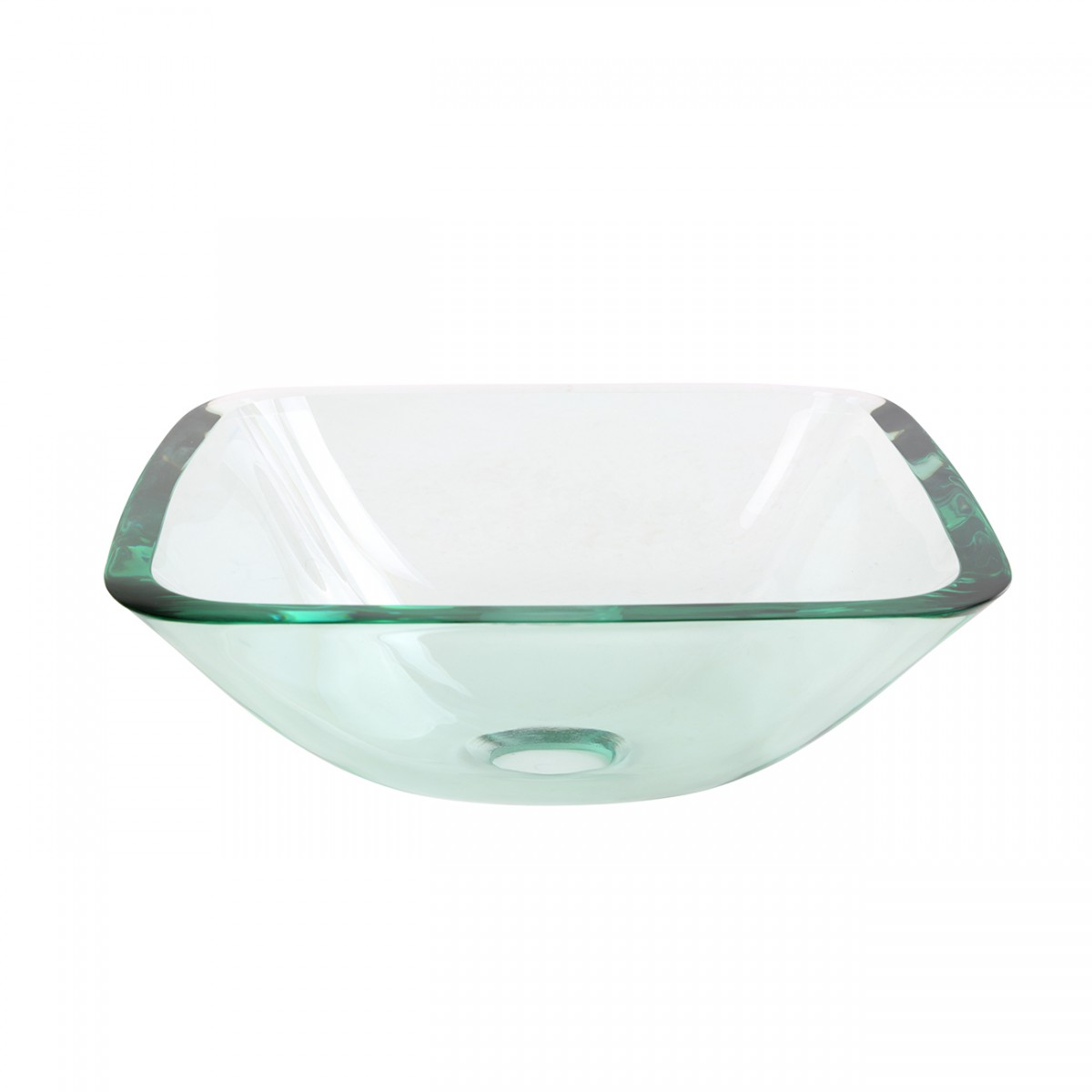 Renovators Supply Tempered Glass Countertop Vessel Sink with Popup Drain bathroom vessel sinks Countertop vessel sink Above Counter Bathroom Sink